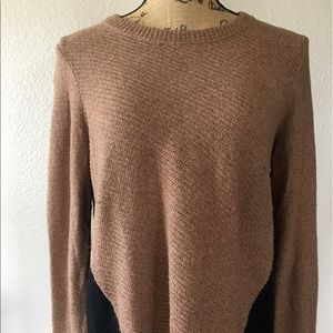 Madewell oversized sweater with back zipper detail